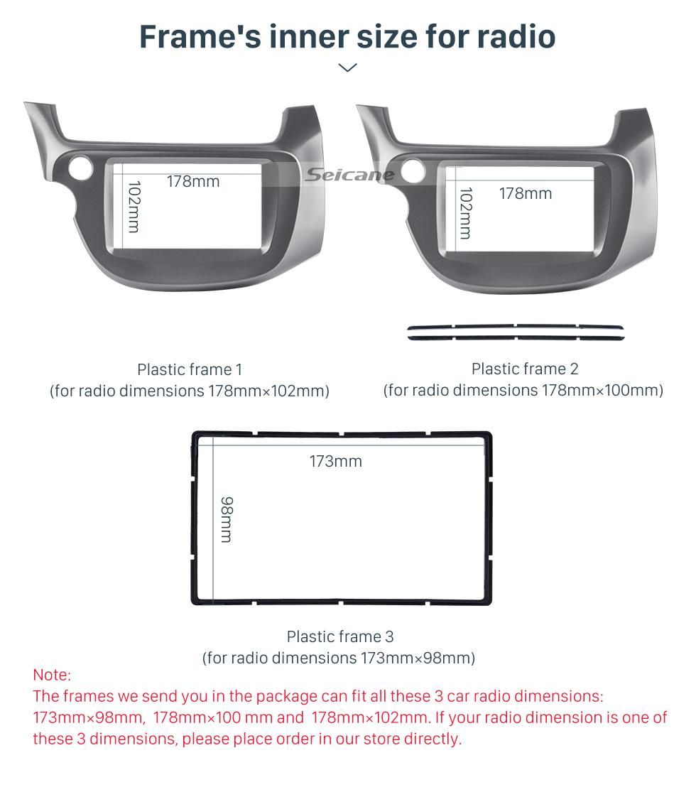Seicane Professional Gray 2Din 2008 2009 2010 2011-2013 Honda Fit LHD Car Radio Fascia Audio Cover Fitting Frame CD Trim Panel