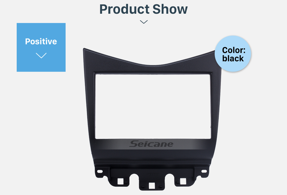 Seicane Popular Black 2Din 2007 Honda Accord Car Radio Fascia Stereo Install Audio Frame Dash Kit