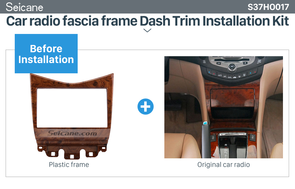 High Quality Wooden Color 2din 2007 Honda Accord Car Radio