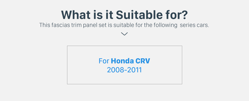 Seicane Superior Quality 2Din 2008 2009 2010 2011 HONDA CRV Car Radio Fascia Frame Audio Cover Fitting Frame