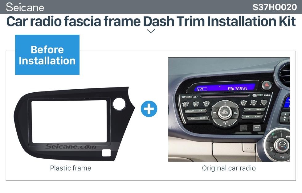 Seicane Delicate 2Din 2009-2016 Honda Insight RHD Car Radio Fascia Auto stereo Adapter Panel Plate DVD Frame