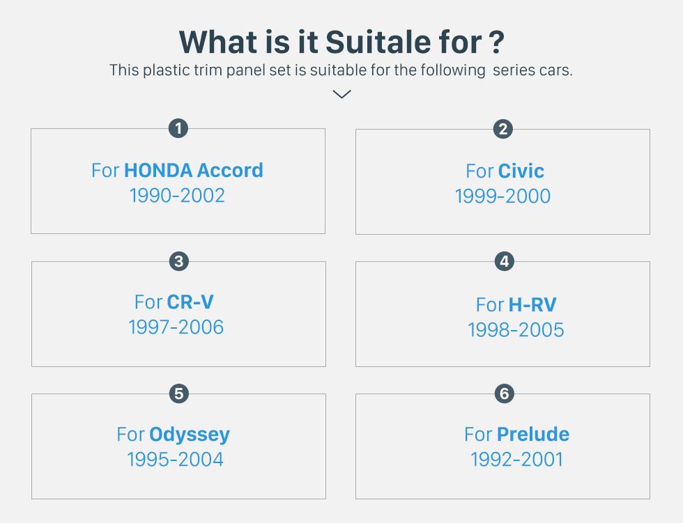 What is it Suitable for? 2 Din 178*102mm Black Universal Car Radio Fascia for HONDA automobile CD Trim Radio Frame Refitting Car Kits