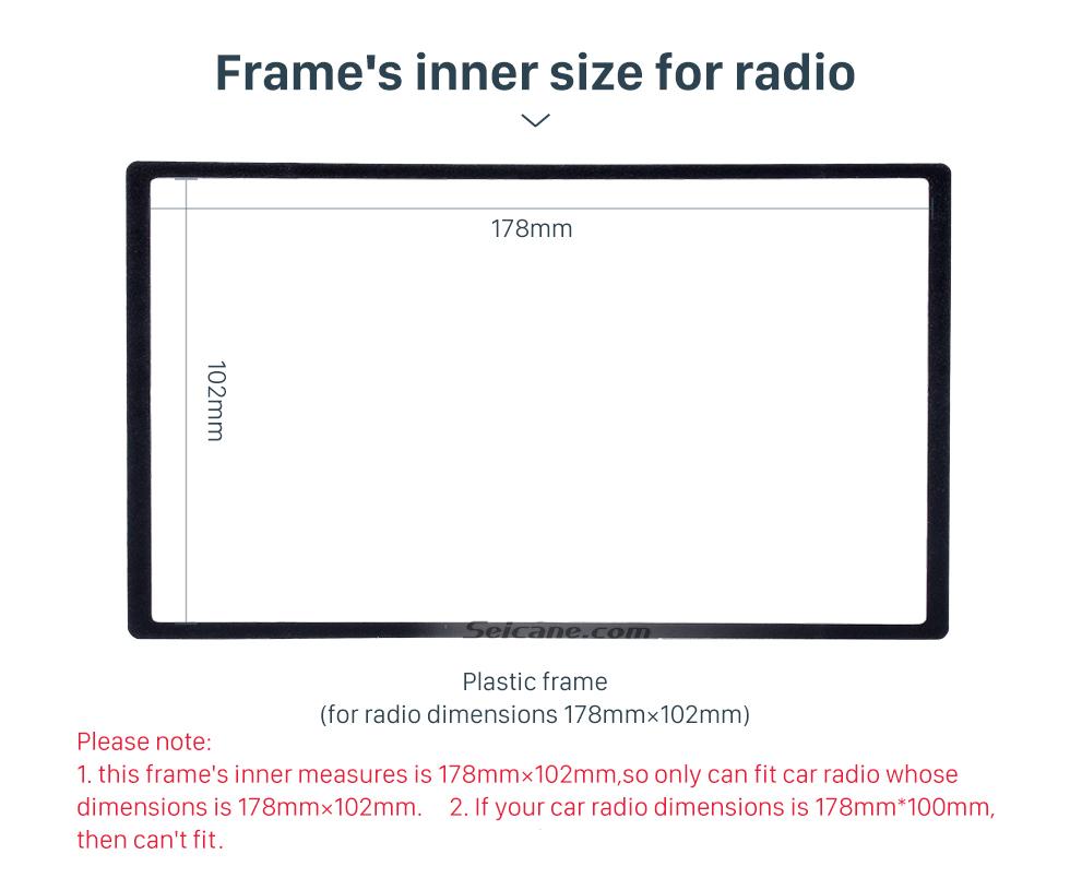 Frame's inner size for radio 2 Din 178*102mm Black Universal Car Radio Fascia for HONDA automobile CD Trim Radio Frame Refitting Car Kits