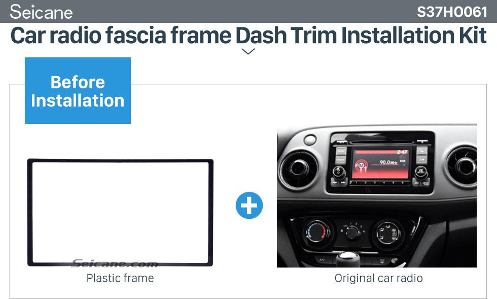 Car radio fascia frame Dash Trim Installation Kit  2 Din 178*102mm Black Universal Car Radio Fascia for HONDA automobile CD Trim Radio Frame Refitting Car Kits