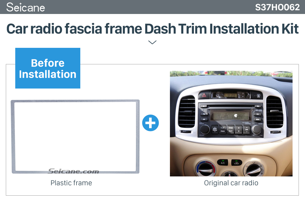 Seicane 2 Din 178*102mm Silver Universal Car Radio Fascia for HONDA FIT Jazz automobile DVD panel Trim Install Frame Stereo Interface