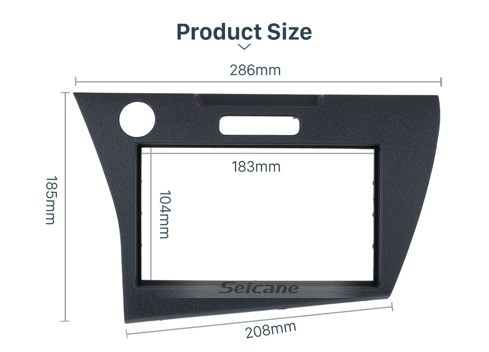 Seicane latest technology 2Din 2010+ Honda CRZ LHD Car Radio Fascia DVD Gps Decorative Frame Dash Kit Trim Bezel