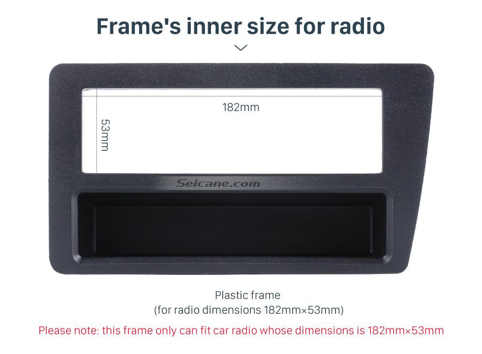 Seicane Perfect 1Din 2001 2002 2003 2004 2005 Honda Civic LHD Car Radio Fascia In Dash Mount Kit CD Trim Panel DVD Frame