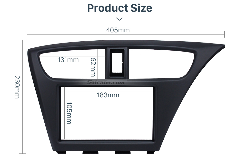 Seicane Reliable Quality 2Din 2012 Honda Civic European RHD Car Radio Fascia Stereo Install frame Dash Mount Panel Adaptor