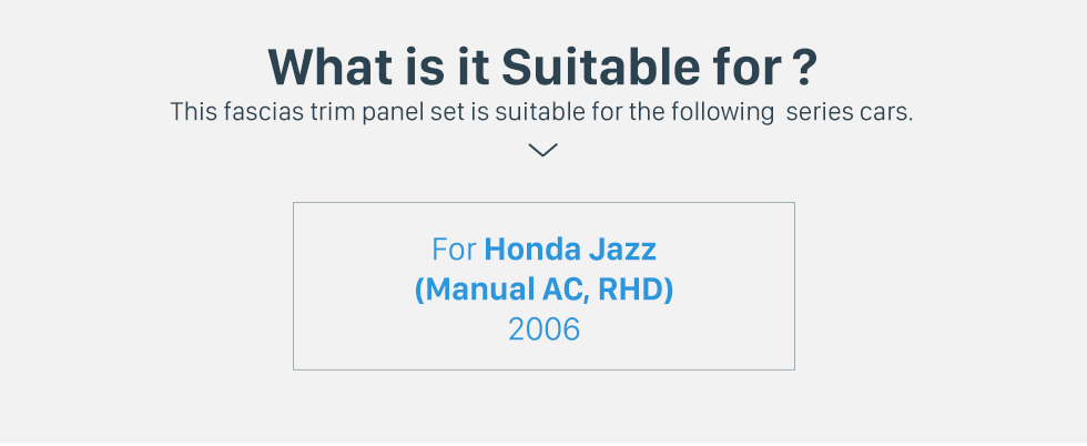 Seicane Best Quality Double Din 2006 Honda Jazz Manual AC RHD Car Radio Fascia Auto Stereo Installation frame DVD panel CD Trim