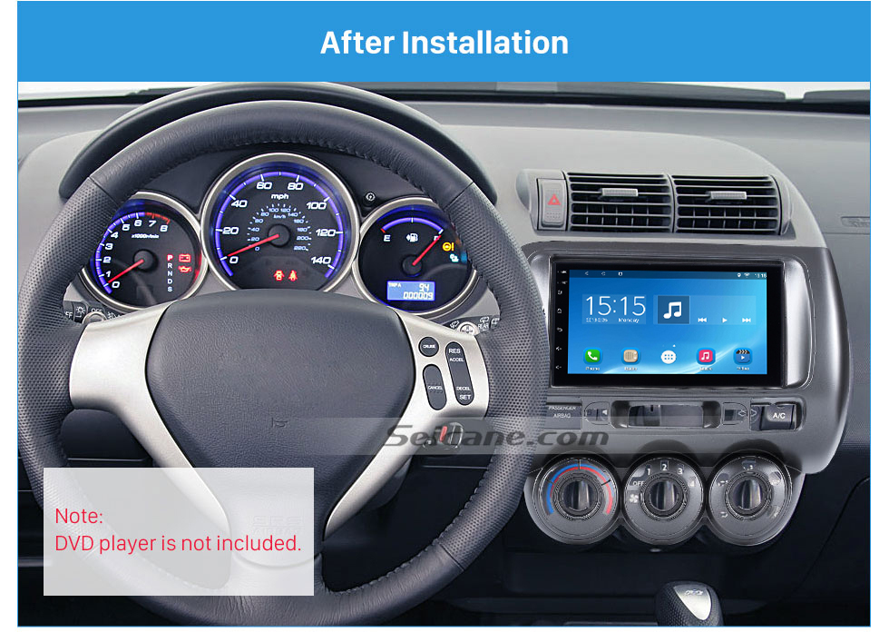 Seicane Remarkable Double Din 2002-2008 Honda Jazz Manual AC LHD Car Radio Fascia Dash Kit Panel Plate Frame CD Trim