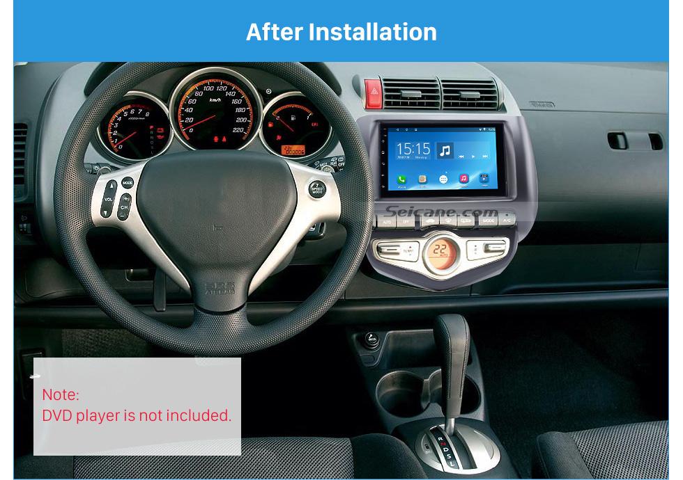 Seicane Best Quality Double Din 2006 Honda Jazz City Auto AC LHD Car Radio Fascia DVD Player frame Dash Mount Kit Adaptor