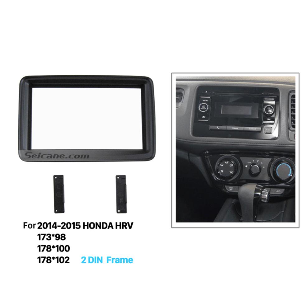 Seicane Artistic Double Din 2014 2015 HONDA HRV Car Radio Fascia Audio Cover Trim Installation Auto Stereo Interface