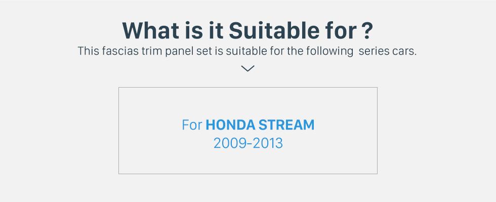 Seicane Professional Double Din 2009-2013 HONDA STREAM Car Radio Fascia Trim Bezel Stereo Install Panel Plate Frame