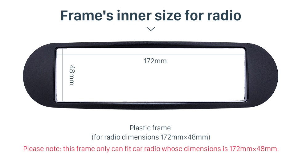 Seicane Black 1Din 1998+ Volkswagen Beetle Car Radio Fascia Auto Stereo Trim Panel Dash Mount Kit Install Frame