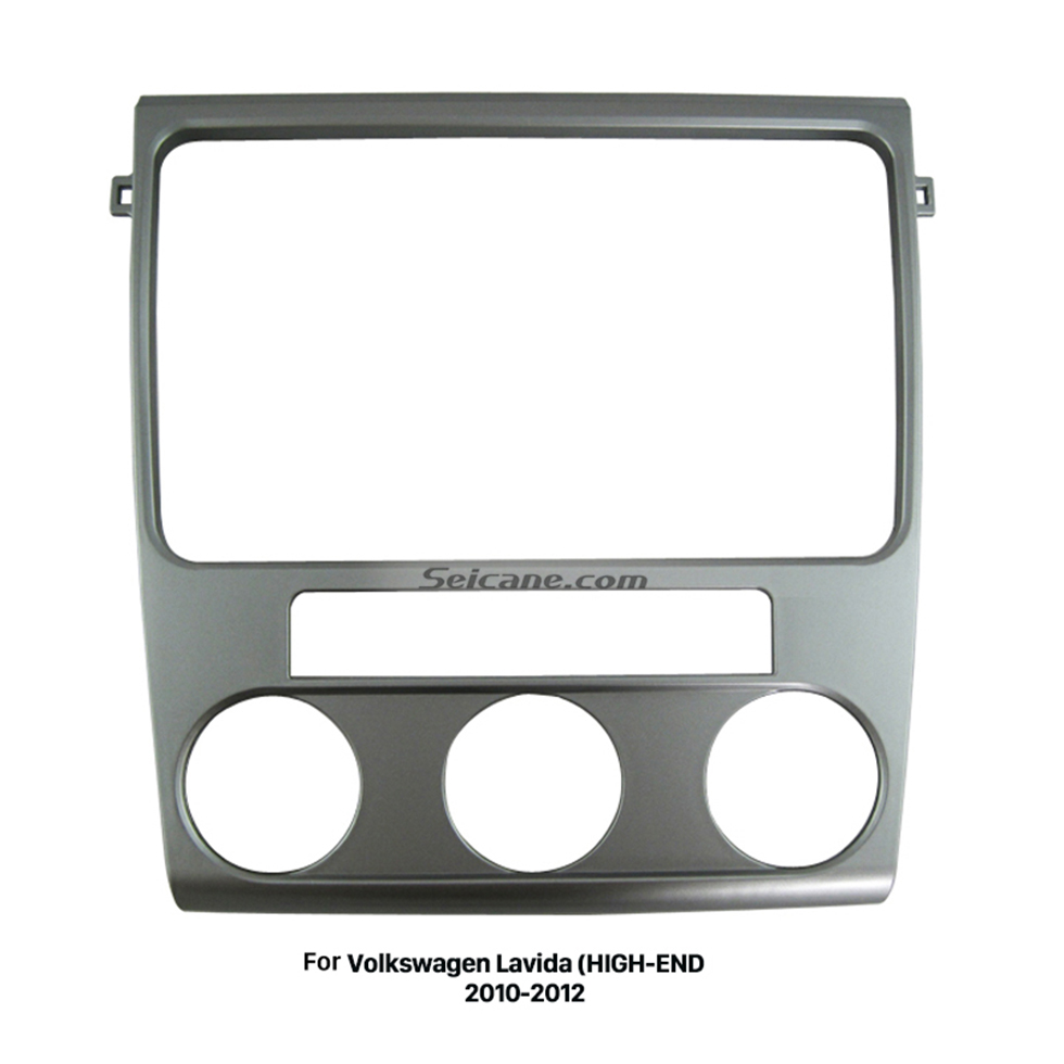 Seicane Silver Double Din 2010 2011 2012 Volkswagen Lavida HIGH-END Car Radio Fascia Stereo Dash Outter Frame Panel Kit DVD Player
