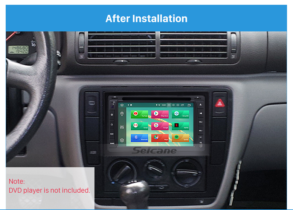 173 98mm Double Din 2005 Volkswagen Sharan Car Radio