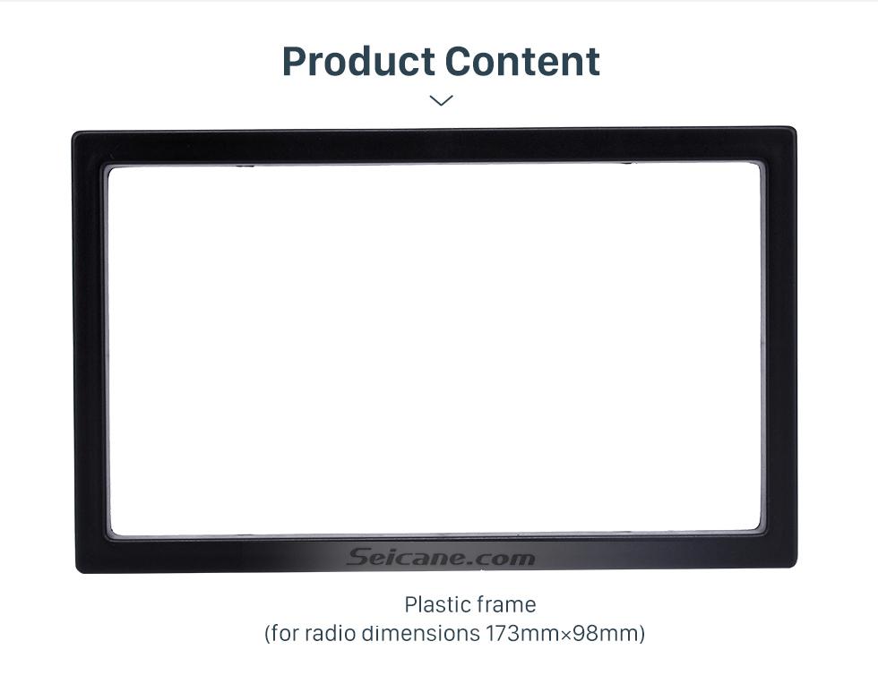 Seicane 173*98mm Double Din 2005 Volkswagen Sharan Car Radio Fascia Auto Stereo Fitting Frame Dash Kit Panel Adaptor