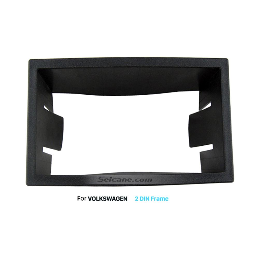 Seicane 173 * 98 mm Kit de instalación Doble Din Volkswagen radio de coche DVD GPS de la fascia del tablero de instrumentos panel de ajuste