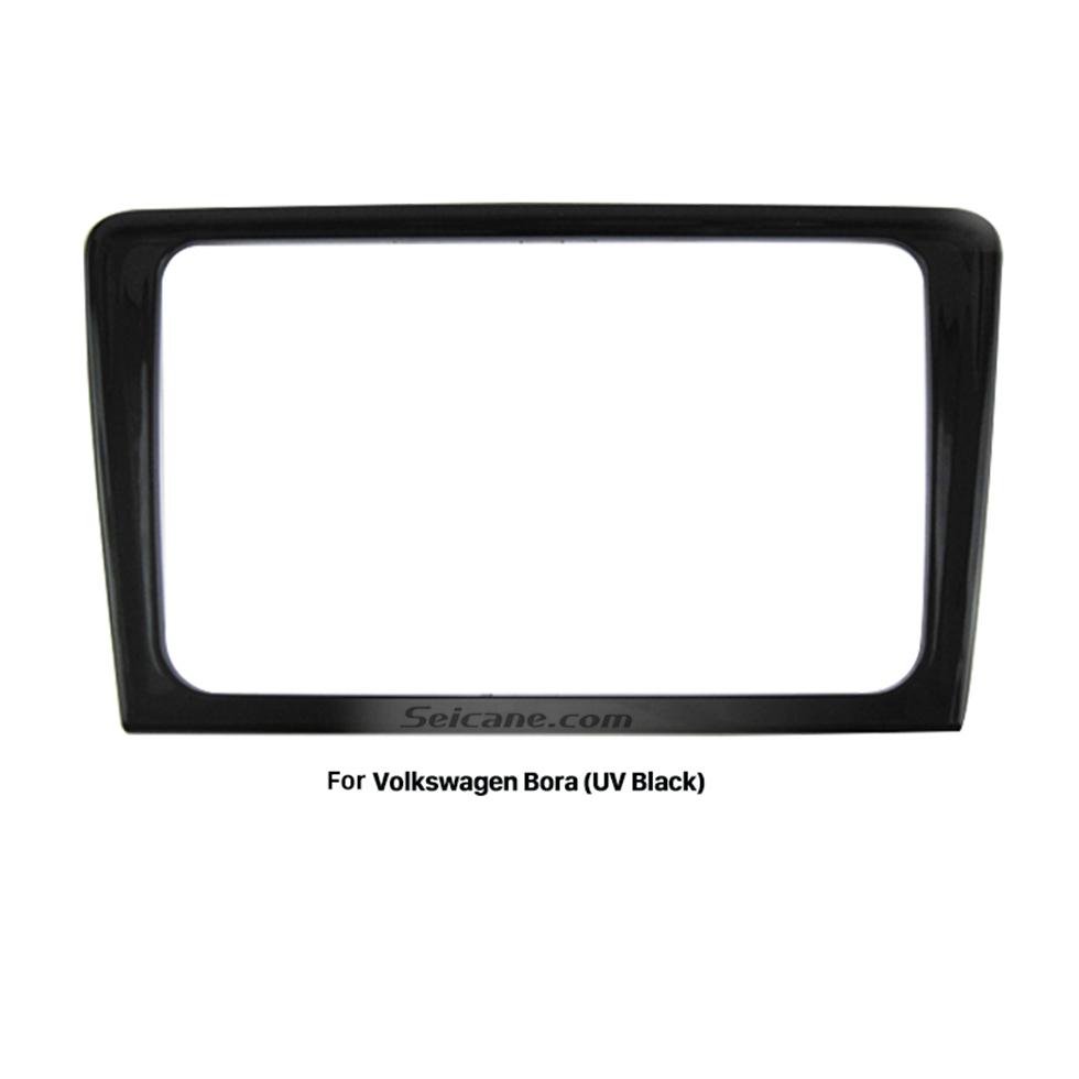 Seicane UV Black Double Din 2013 Volkswagen Bora Car Radio Fascia Stereo Frame Dash Kit Face Plate Panel Adpptor