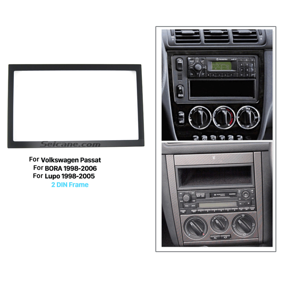 Seicane 173*98mm Double Din 2008-2011 Volkswagen Passat Car Radio Fascia Stereo Dash DVD GPS CD Installation Kit