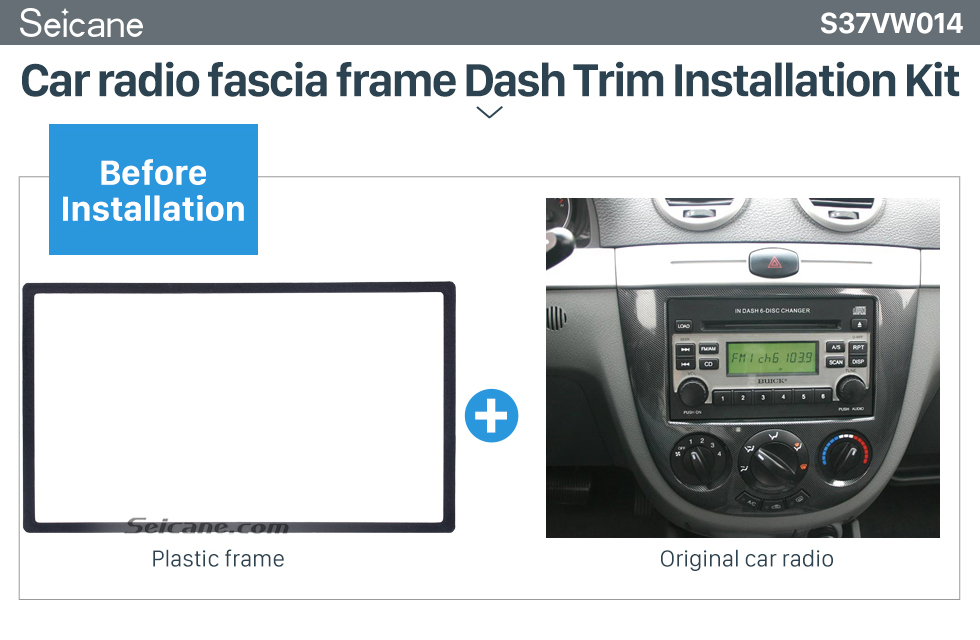Seicane 173*98mm Double Din 2005 Volkswagen Passat Bora Car Radio Fascia DVD Panel Stereo Player Audio Fitting frame Adaptor