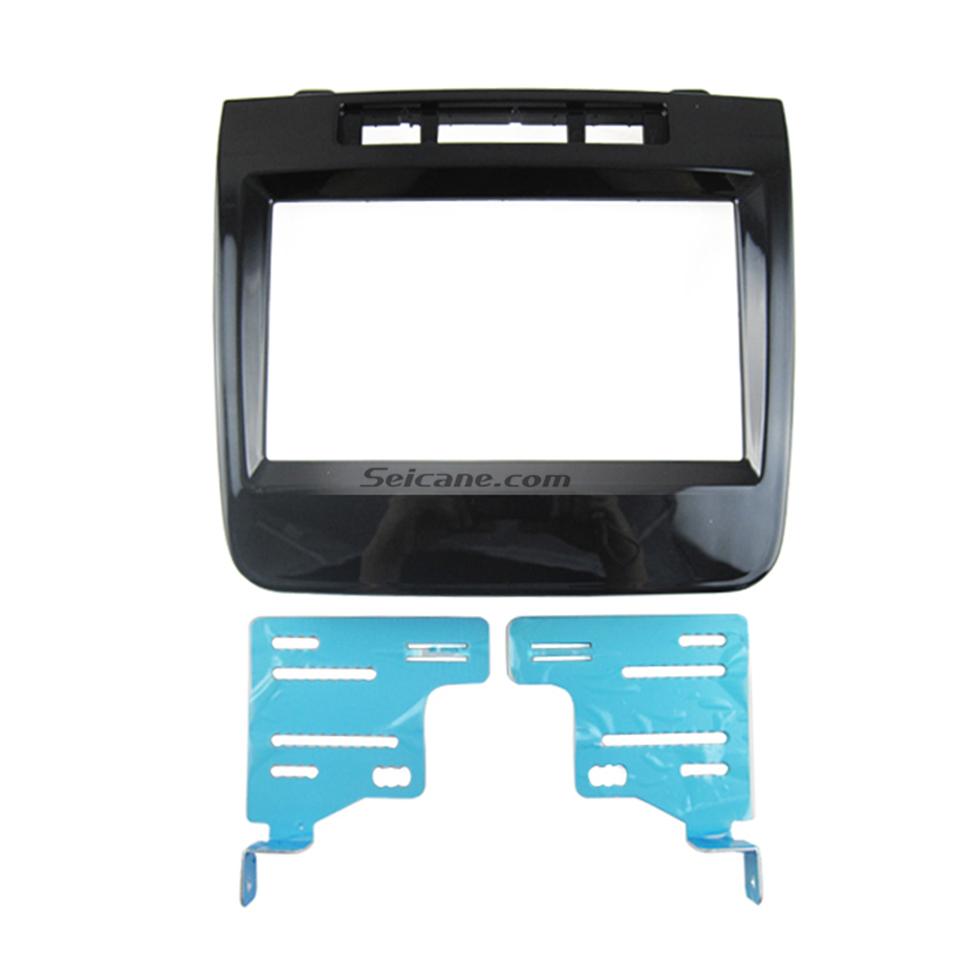 Seicane UV Black Double Din 2011 Volkswagen Touareg Car Radio Fascia Bezel Plate Trim Panel Dash Mount DVD Player