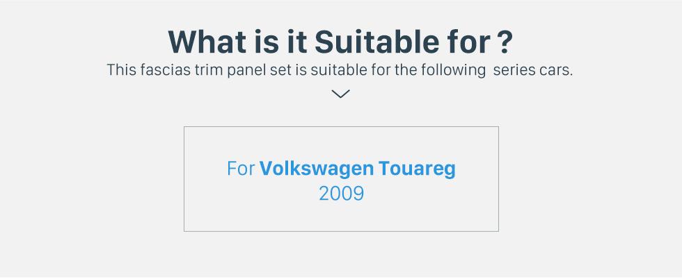Seicane Double Din For 2009 VW Volkswagen Touareg Transporter T5 Multivan Car Radio Fascia Surround CD Fitting Kit Install Frame Trim Panel