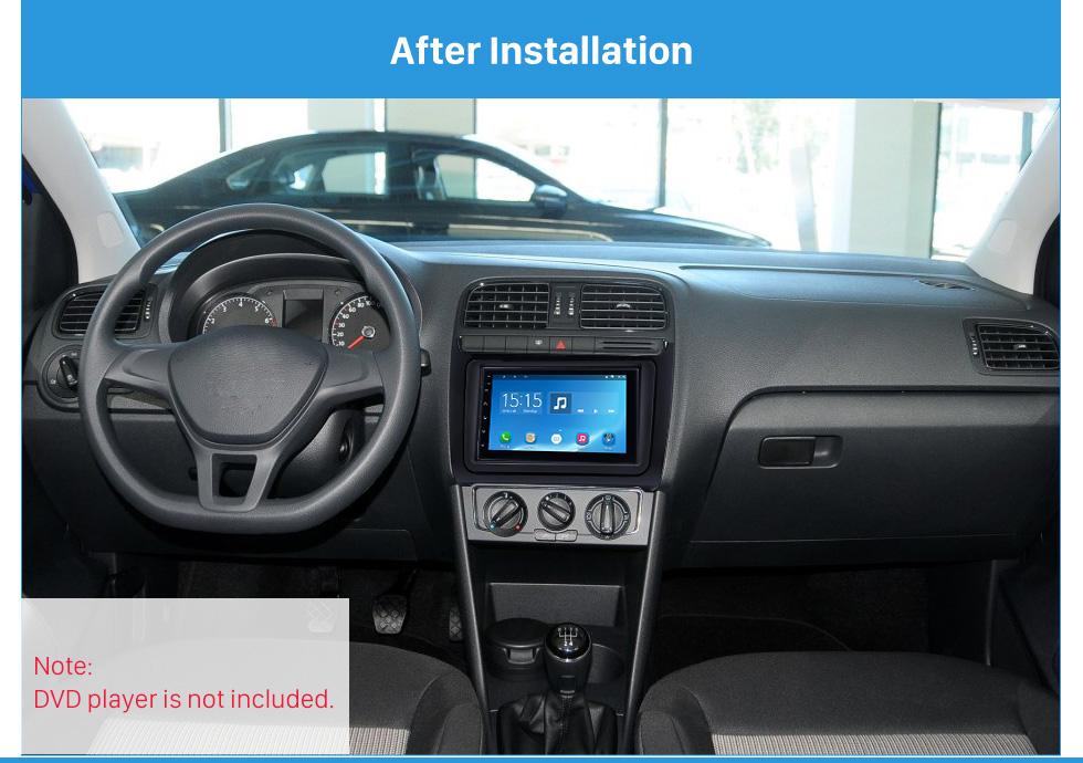 Seicane Latest Double Din 2014 Volkswagen Polo Car Radio Fascia Dash Mount CD Trim Stereo Frame Audio Fitting