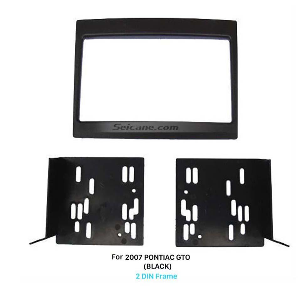 Seicane Black Double Din 2007 PONTIAC GTO Car Radio Fascia Stereo Frame Panel Audio Cover Dash Mount Trim Kits