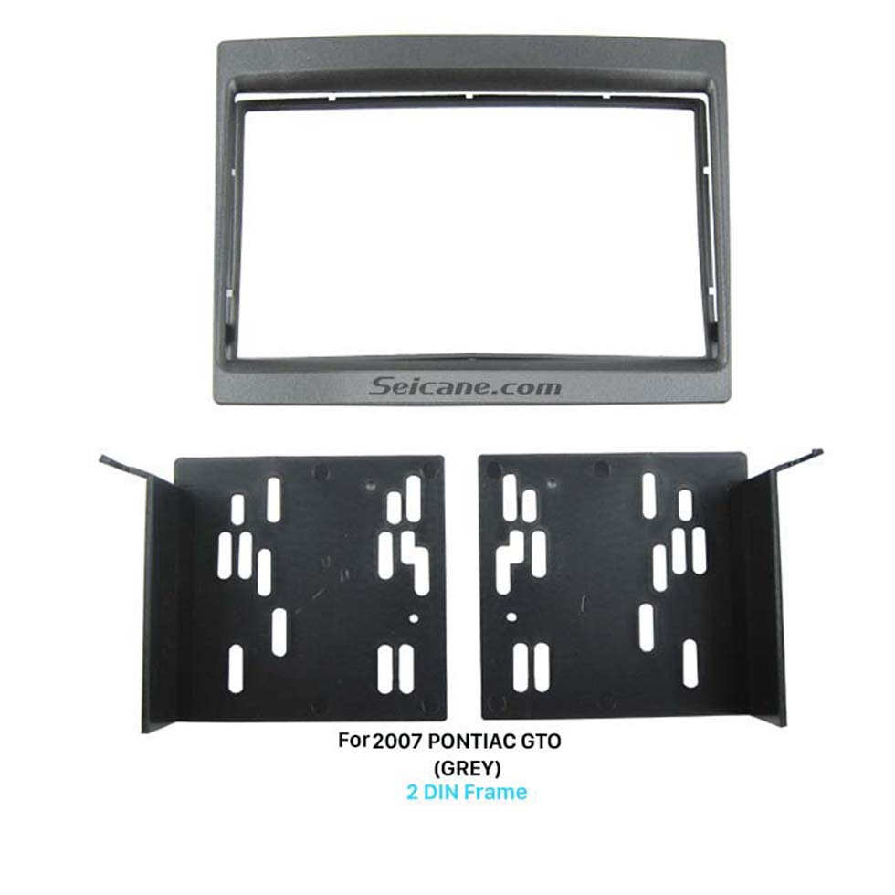 Seicane Grey Double Din 2007 PONTIAC GTO Car Radio Fascia Audio Player Stereo Dashboard Panel Frame Installation Kit
