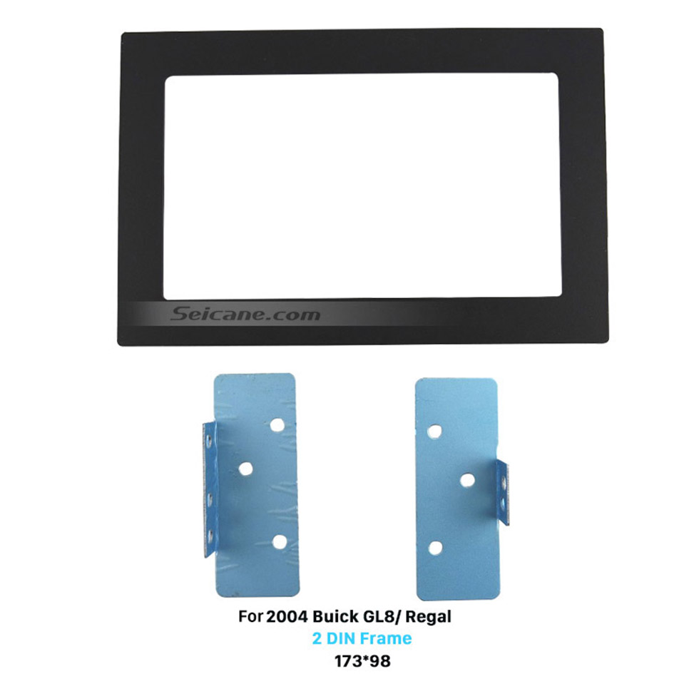 Seicane 173*98mm Double Din 2004 Buick GL8 Regal Car Radio Fascia Panel Face Plate Stereo Dash Kit Trim Installation