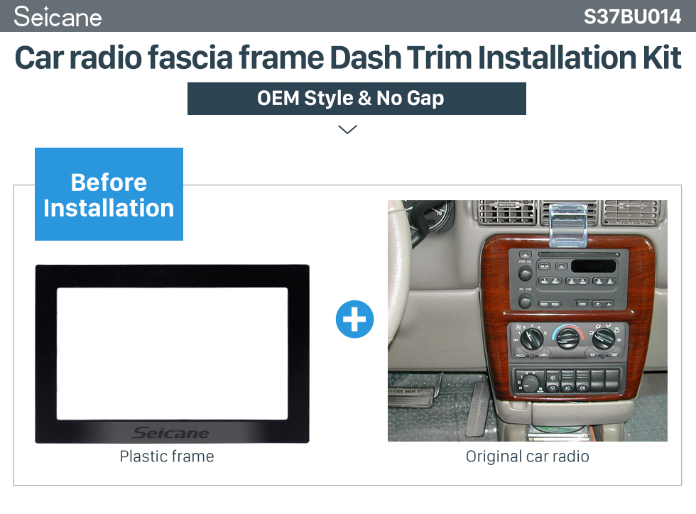 Seicane Double Din 2004 Buick GL8 Regal Car Radio Fascia Dash CD Installation Kit Fitting Frame Surround Panel