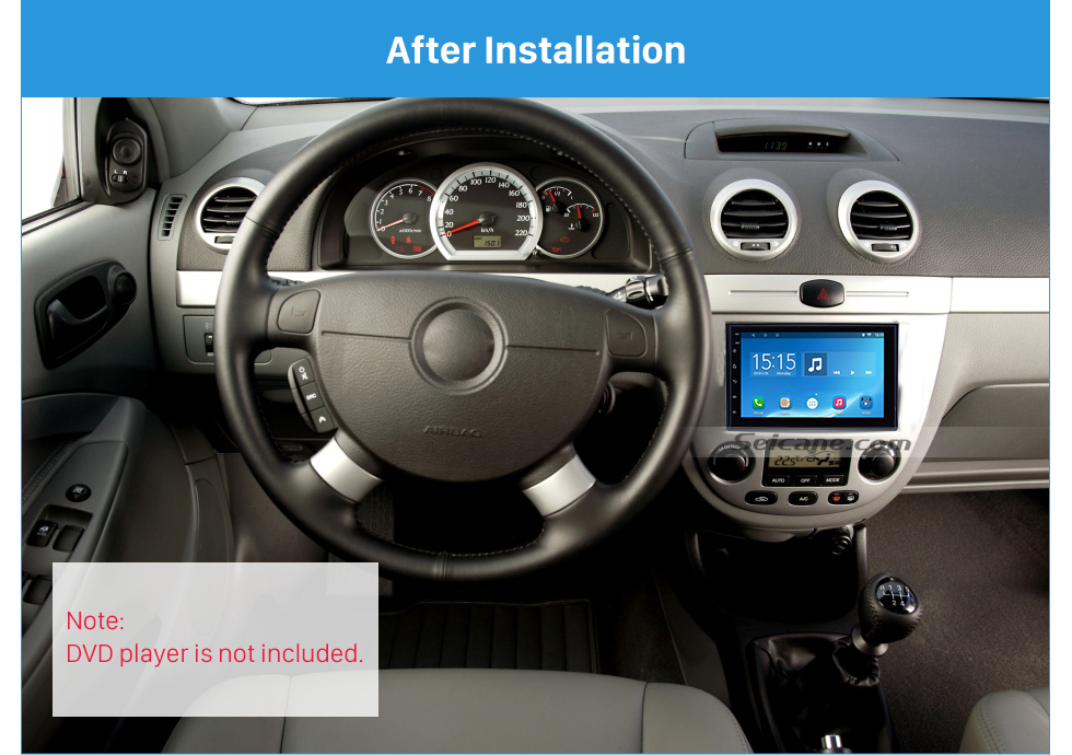 After Installation 178*102mm Double Din 2006 Buick Excelle Car Radio Fascia Surround Panel Trim Installation Stereo Player Fitting Frame