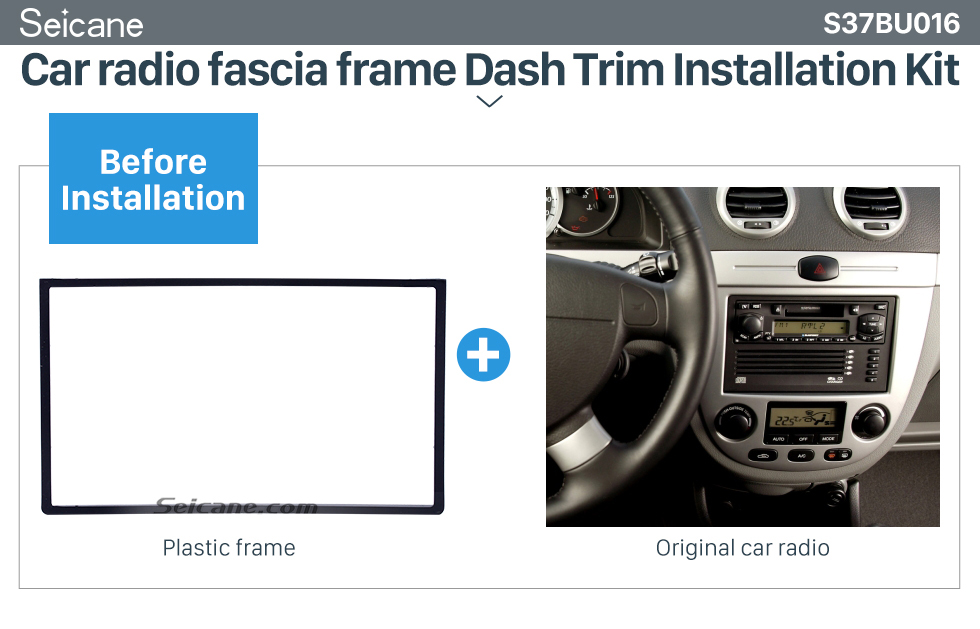 Car radio fascia frame Dash Trim Installation Kit  178*102mm Double Din 2006 Buick Excelle Car Radio Fascia Surround Panel Trim Installation Stereo Player Fitting Frame