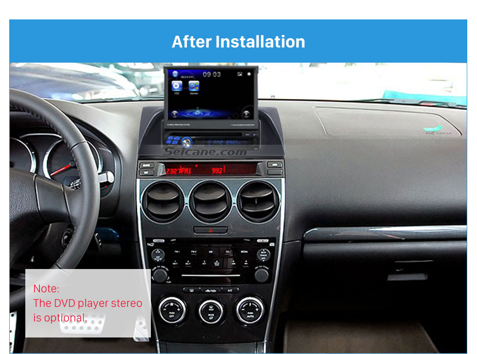 Seicane 1DIN 2002-2007 Mazda 6 Atenza Car Radio Fascia Audio Stereo Dashboard Surrounded Installation Trim Panel Kit Face Plate