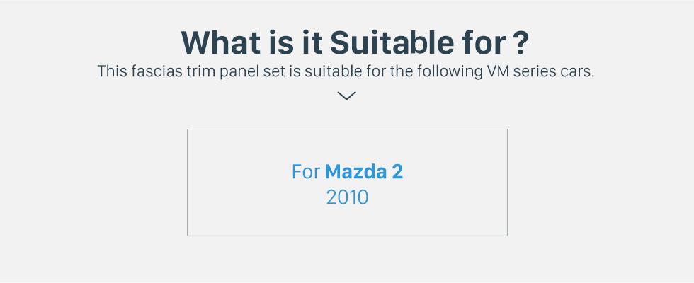 Seicane 2DIN 2010 Mazda 2 Car Radio Fascia Dash DVD Player Auto Mounted Installation Frame Trim Panel Dashboard Face Plate Kit