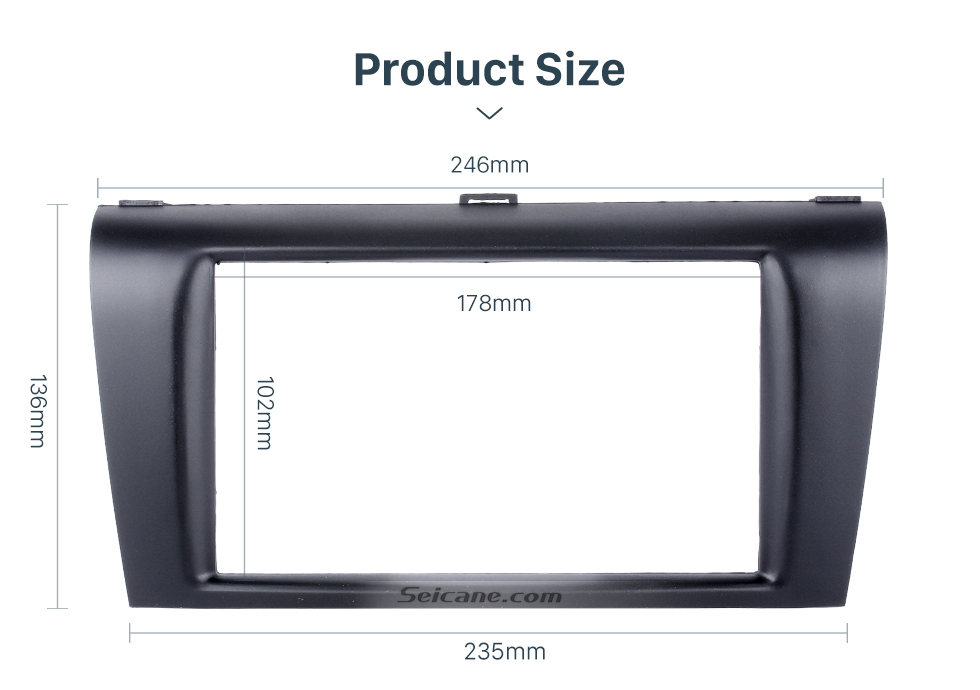 Seicane 2DIN 2004-2009 Mazda 3 Axela Car Radio Fascia Dash DVD Player Auto Mounted front surround frame panel Install Bezel