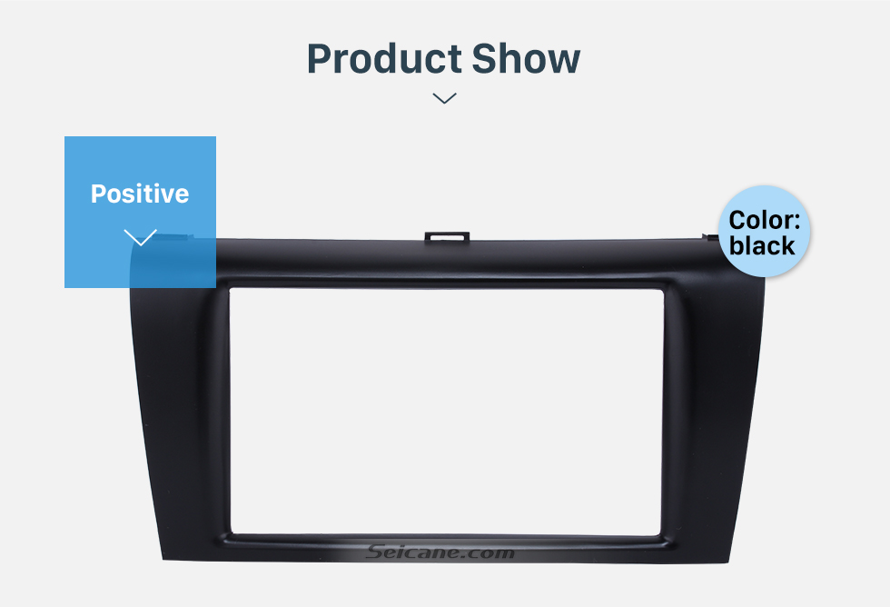 Seicane Top Quality 2DIN 2010-2013 Mazda 3 Car Radio Fascia Auto Stereo Installation Trim CD Panel Car-styling Face Plate Frame