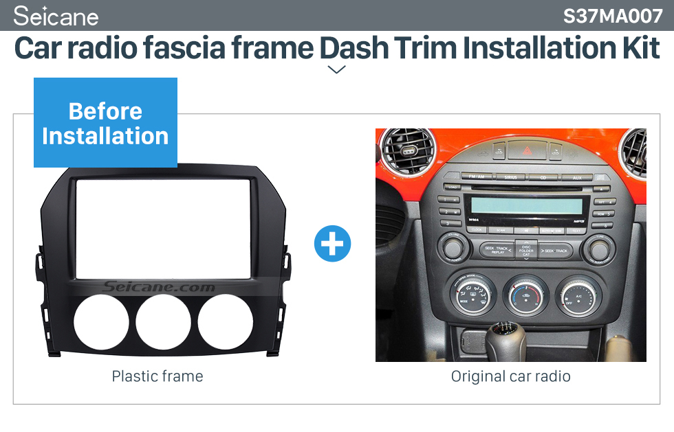Seicane 2DIN 2009 Mazda MX-5 Car Radio Fascia Dash Player Stereo Install Panel Trim Vehicle-mounted Car-styling Kit Frame