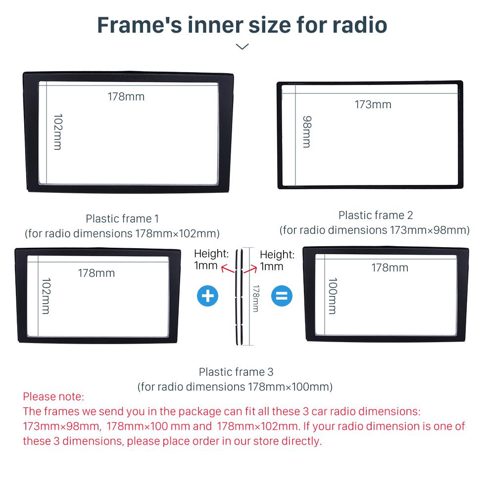 Seicane Newest 2DIN 2002 Mazda Premacy Car Radio Fascia Dash Player Auto Mount Installation Frame Surround Trim Panel Face Plate Kit