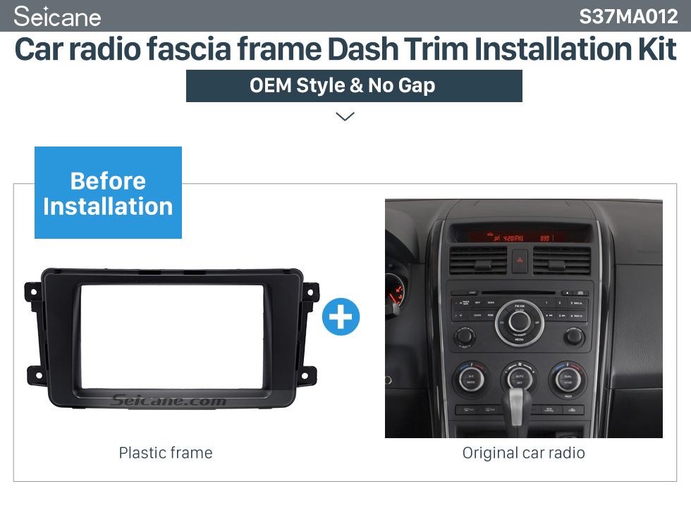 Car radio fascia frame Dash Trim Installation Kit  Quality 2Din 2009 Mazda CX-9 Car Radio Fascia Dash DVD Player Installation Trim Panel Face Plate Car Kit Frame
