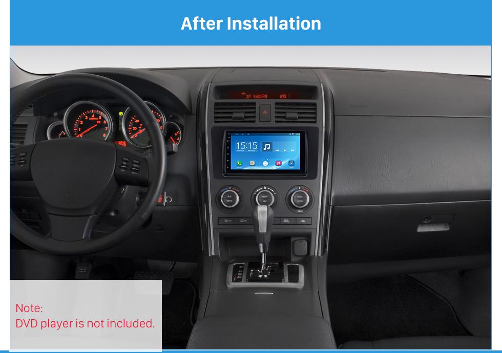 After Installation Quality 2Din 2009 Mazda CX-9 Car Radio Fascia Dash DVD Player Installation Trim Panel Face Plate Car Kit Frame