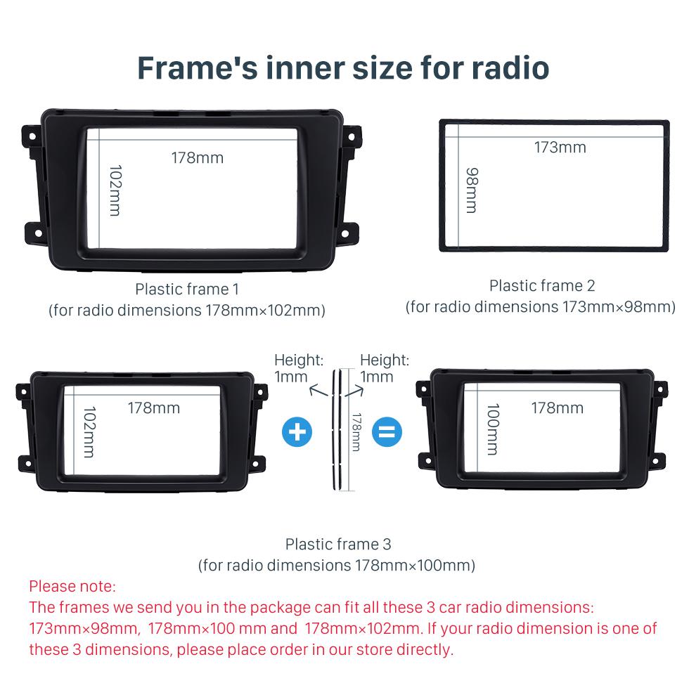 Frame's inner size for radio Quality 2Din 2009 Mazda CX-9 Car Radio Fascia Dash DVD Player Installation Trim Panel Face Plate Car Kit Frame