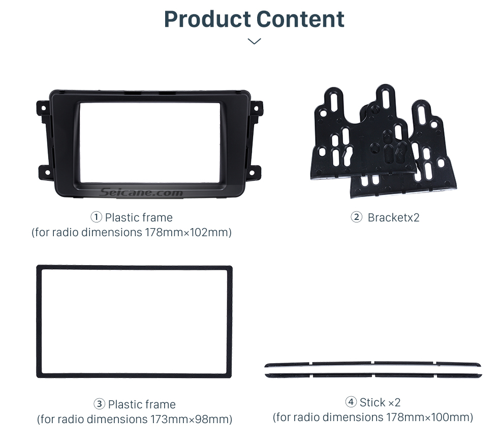 Product Content Quality 2Din 2009 Mazda CX-9 Car Radio Fascia Dash DVD Player Installation Trim Panel Face Plate Car Kit Frame