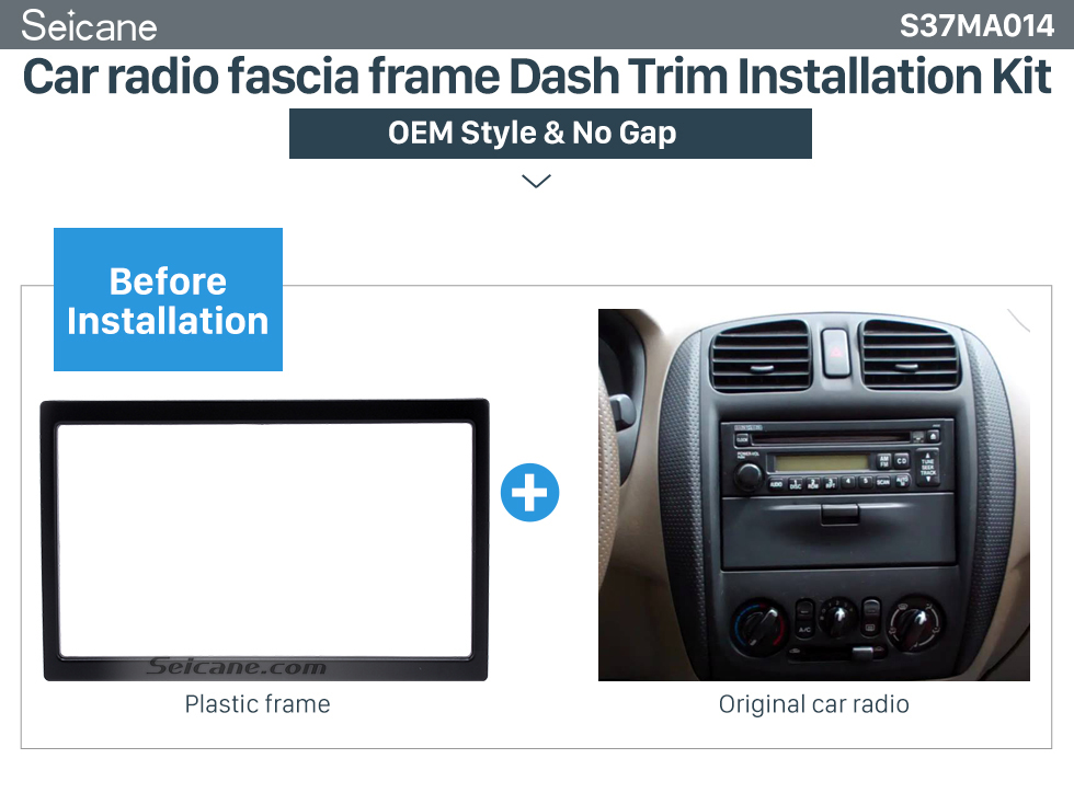 Car radio fascia frame Dash Trim Installation Kit  Haute Qualité 173 * 98 2Din 2002 Mazda Family Car Radio Fascia Lecteur DVD Auto Installation stéréo Kit panneau de garnissage Styling Cadre de voiture