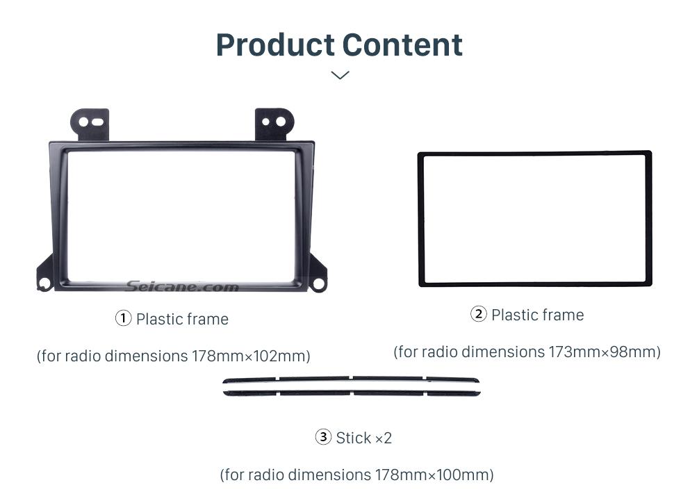 Seicane Popular 2Din 2002-2007 Mazda MPV Car Radio Fascia Dash Mount Trim Panel CD DVD Player Installation Frame