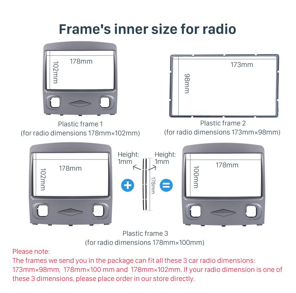 Seicane Classic Double Din 2006-2009 Mazda Tribute Car Radio Fascia Dash CD Stereo Interface Trim Panel Frame