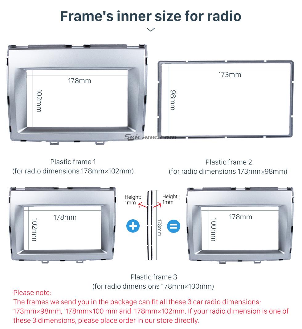 Seicane Great Double Din 2006+ Mazda 8 Car Radio Fascia Stereo Installation Dash Mount Audio Frame DVD CD Trim Panel