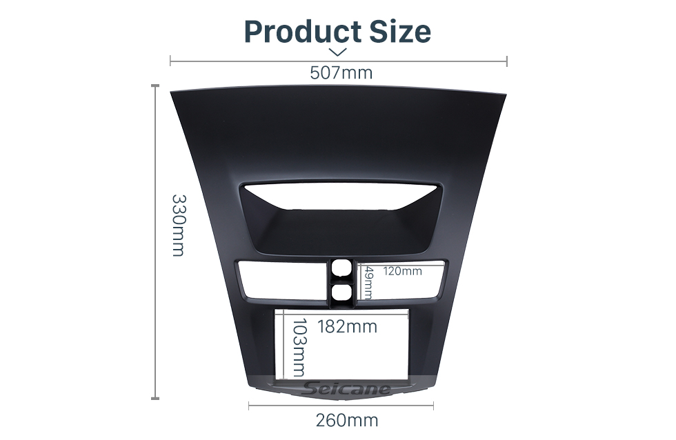 Seicane New Double 2Din 2012-2015 MAZDA BT-50 Car Radio Fascia CD DVD Frame Panel stereo installation Car Styling