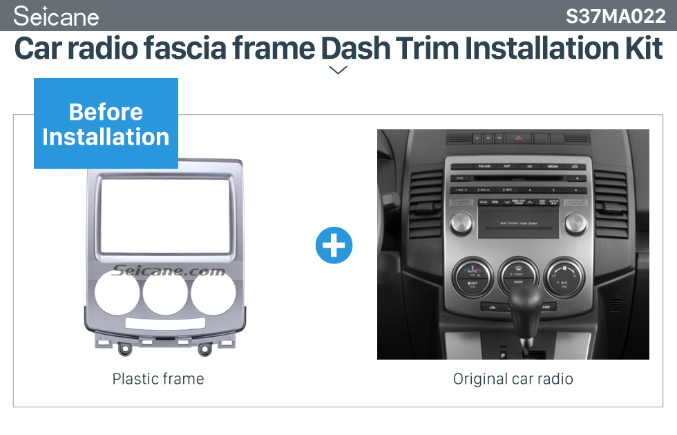 Seicane Professional 2Din 2010 Mazda 5 Car Radio Fascia Auto Stereo CD installation Frame Panel Kit In Dash Trim Bezel